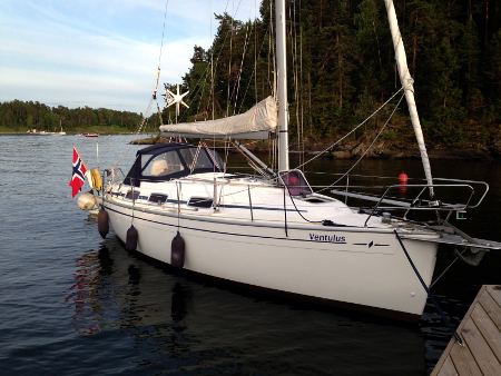 Ventulus moored at Ostøya