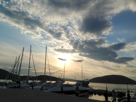 Evening view from Drøbak guest harbor