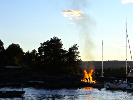 Bonfire at ostøya