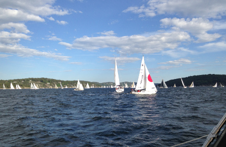 Crossing paths with a competitive bunch of sailors